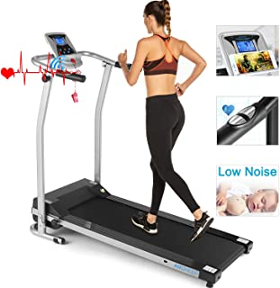 ANCHEER Folding Treadmill, Portable Fitness Electric Treadmill with LCD Screen, Electric Running Machine for Home, Office, Gym, US Stock