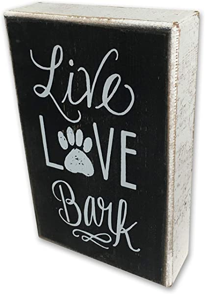 Wood Box Sign Living Room Kitchen Home Decor For Dog Lover Gifts Loving Dog Wooden Coffee Table Decor Cubicle Decor Office Desk Decor Wall Decoration