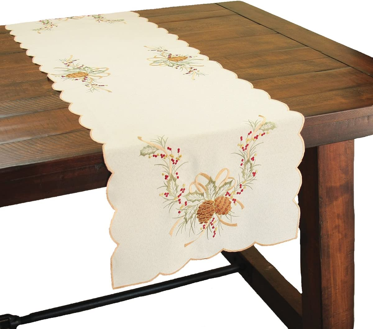 All stores are sold Xia Home Fashions Classic Pine Cone Embroidered Collection Chris Save money