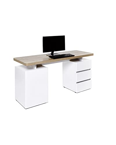 Bureau Blanc Avec Rangement Amazon Fr