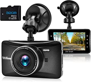 Dash Cam 1080P Full HD 3 Inch Dashboard Camera Car Recorder with 32GB Card 170°Wide..