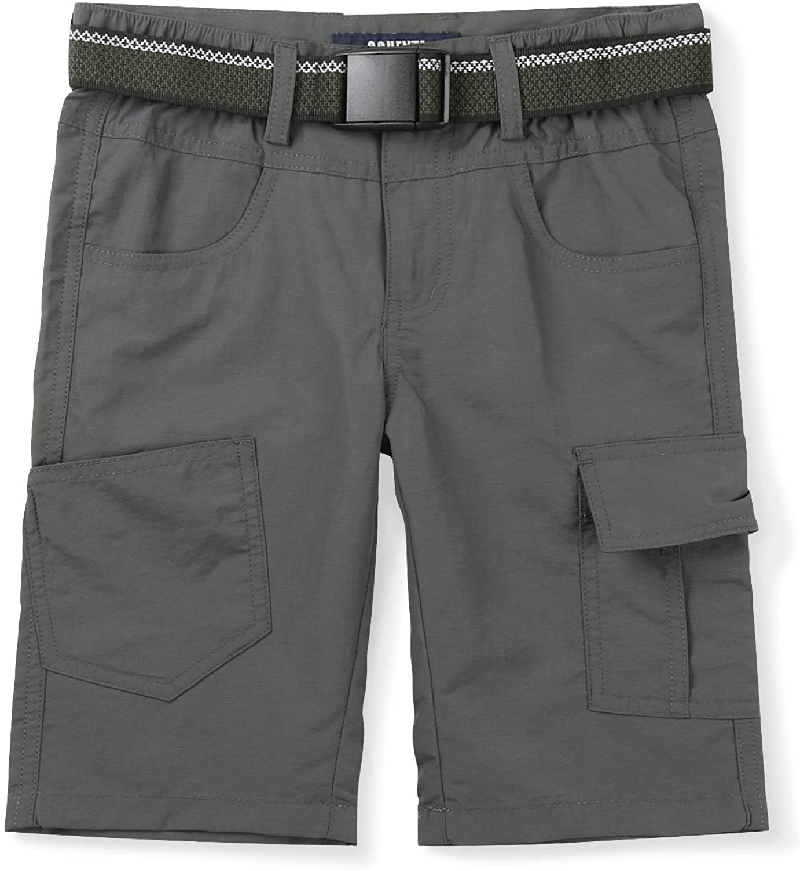 Mesinsefra Kids Boy's Youth Quick Dry Elastic Waist Cargo Shorts,Outdoor Hiking Camping Fishing