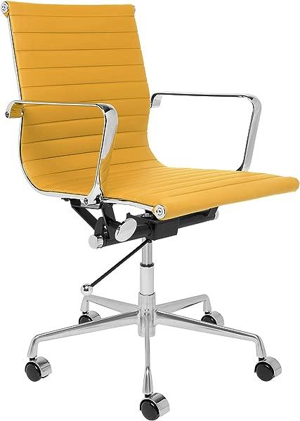 SOHO 棱纹管理办公椅黄色
