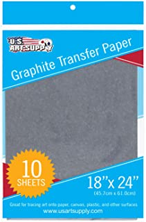 U.S. Art Supply Graphite Carbon Transfer Paper 18