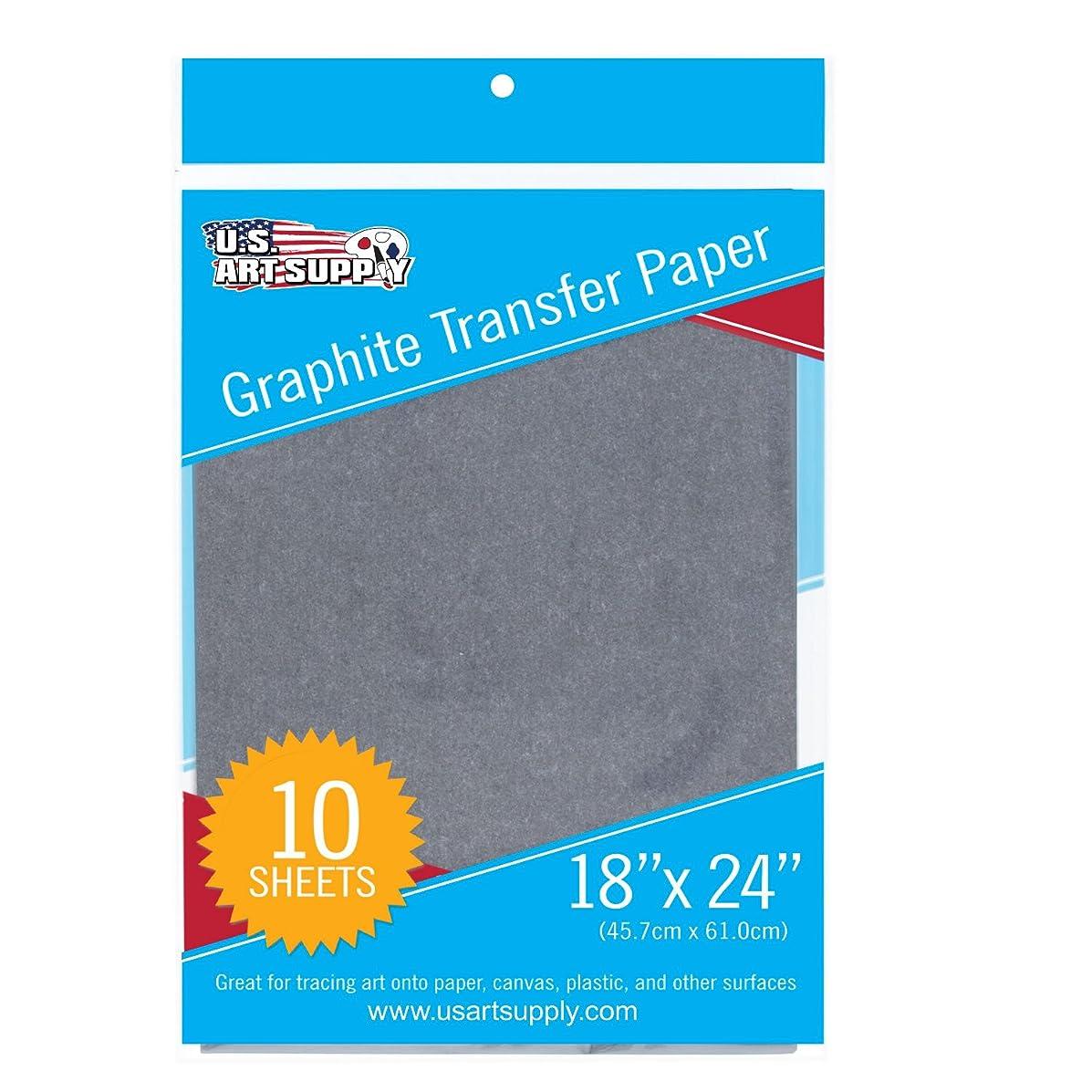U.S. Art Supply Graphite Carbon Transfer Paper 18