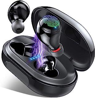 Auriculares Inalámbricos, Lecover Auriculares Bluetooth 5.0 IP8 Impermeable 150H Playtime 3500mAh Cascos Inalámbricos Auri...