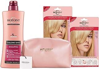 Biopoint Trattamento Capelli Colorati: Shampoo 400 ml + 2xMaschera in tessuta + Melissa pochette