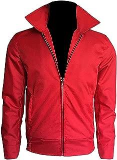 Men's James Dean Red Cotton Biker Jacket