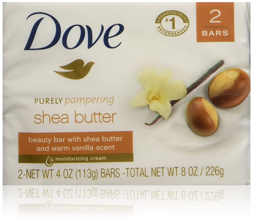 苦情文句緩める帳面Dove Nourishing Care Shea Butter Moisturizing Cream Beauty Bar 2-Count 120 g Soap by Dove