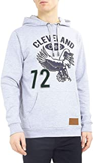 Brave Soul Mens Sweatshirt Over The Head Hoodie Ohio Pullover Top Cleveland New