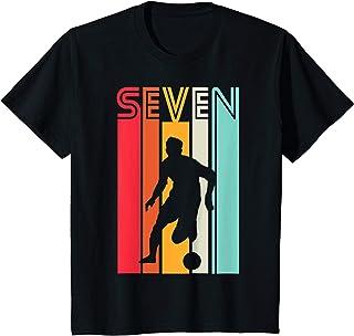 Enfant Cadeau d'anniversaire de 7 ans Football Garçons Enfants T-Shirt