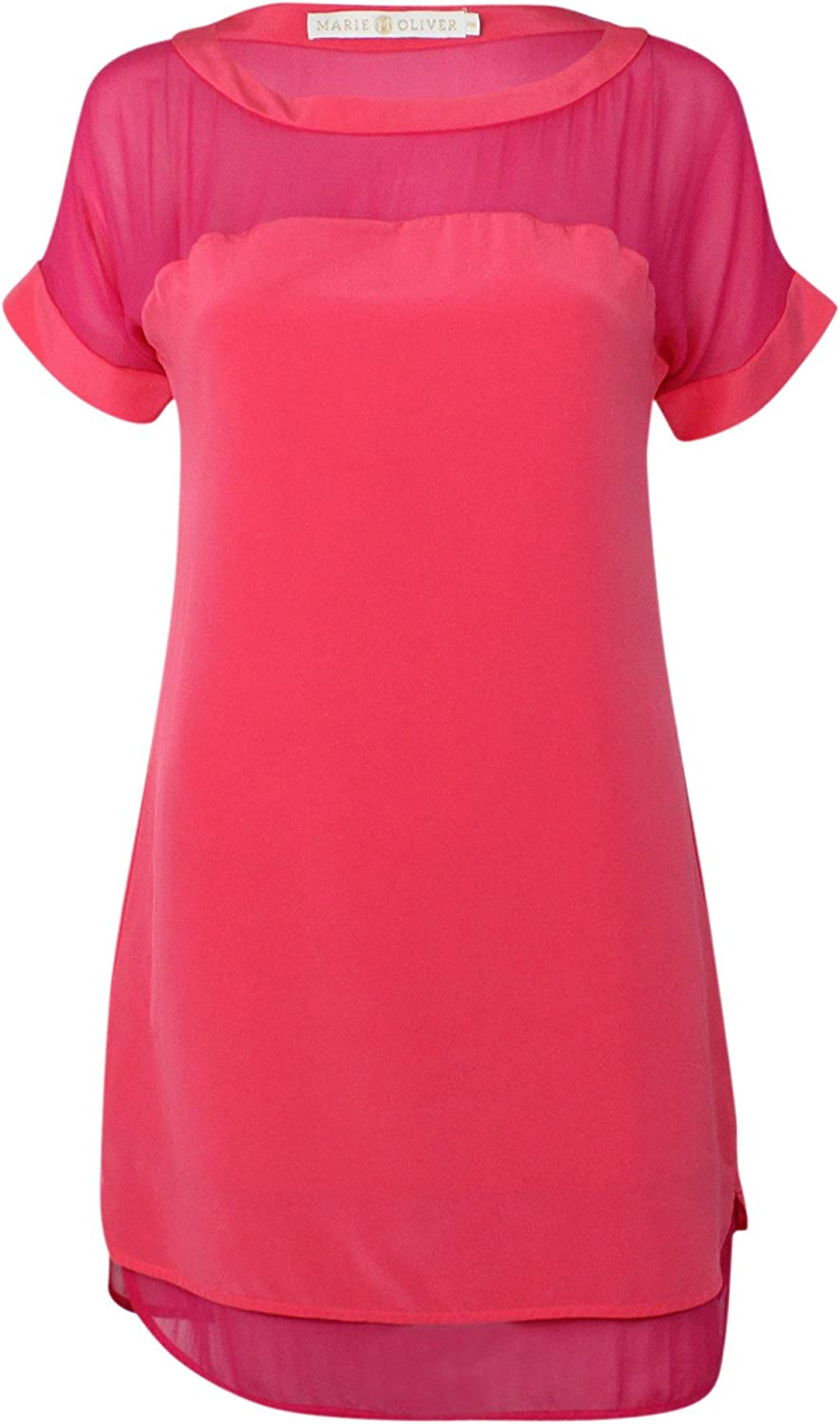 Marie Oliver Womens Lucy colorblock Dress Berry Salmon