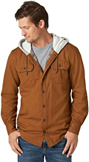 Wrangler Authentics Men's Hooded Flannel Lined Twill Shirt