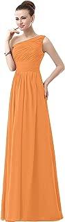 CladiyaDress Women One Shoulder Chiffon Long A Line Bridesmaid Dress Evening Gown D143LF