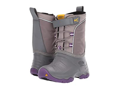 Keen Kids Lumi Boot WP (Toddler/Little Kid) (Steel Grey/Royal Lilac) Kids Shoes