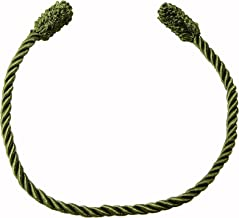 Haute Decor Decorative Garland Ties - 6 Pack - 20 inch - Olive Green