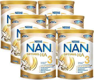 NESTLE NAN OPTIPRO H.A. 3 Growing Up Milk 2'-FL, 800g (Pack of 6)