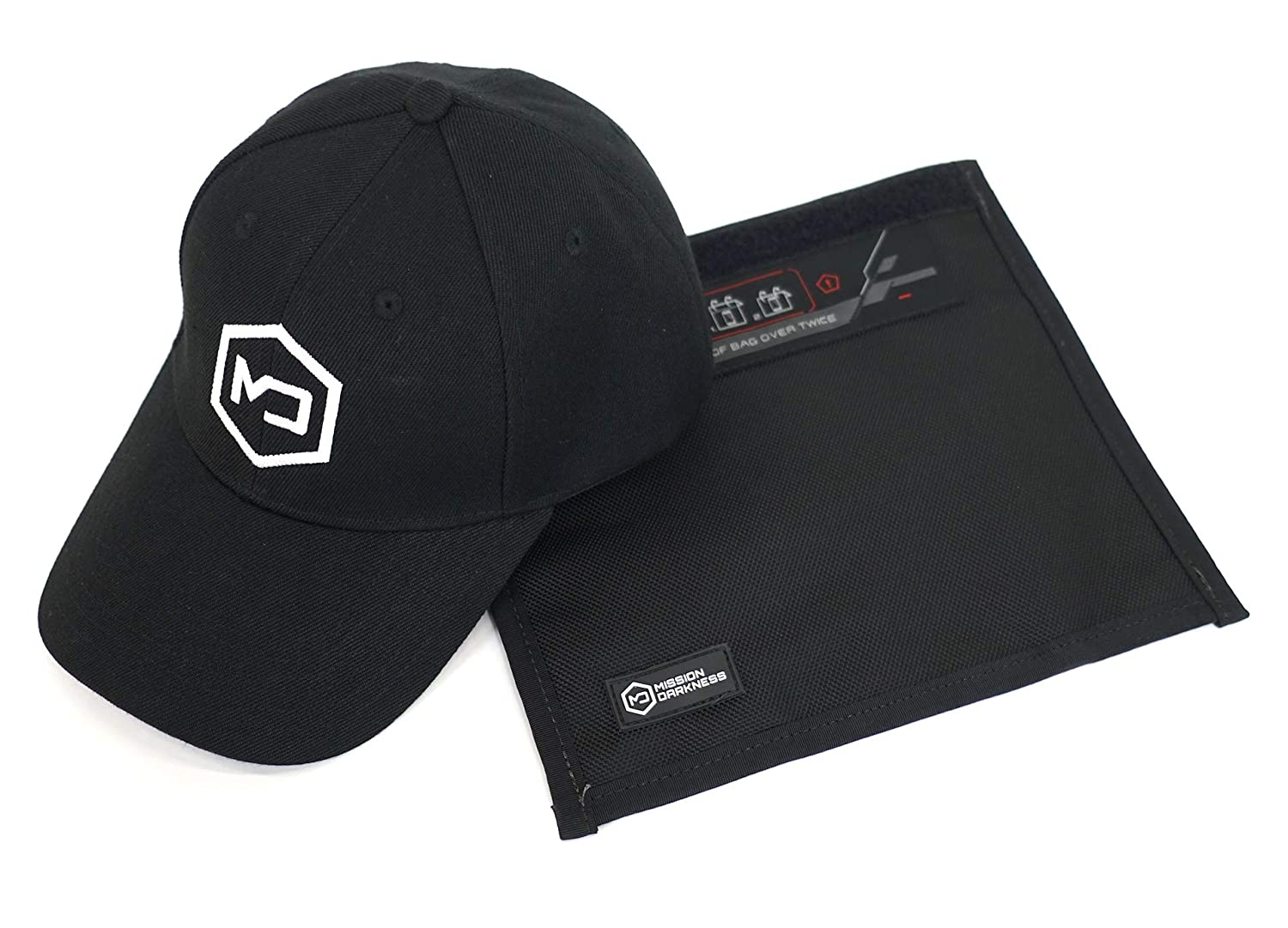 Mission Darkness Limited Edition Faraday Hat Bundle - Includes 1 EMF Blackout Hat and 1 Phone Shield Faraday Bag - Unique RF Shielding Gift Package