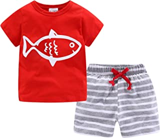 Little Boys Short Clothes Sets Beach Outfits Holiday