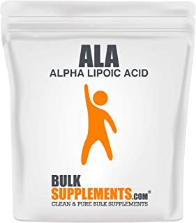 Bulksupplements ALA (Alpha Lipoic Acid) Powder (100 Grams) 167 Servings