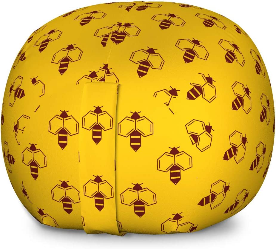 Ambesonne Queen New sales Bee Storage Toy Lover Geometric Quantity limited Chair Bag Honey