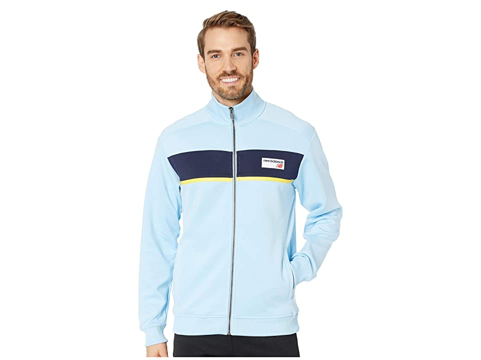 New Balance Athletics Track Jacket (Clear Sky/Black) Men