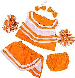 Orange & White Cheerleader Uniform Fits Most 8