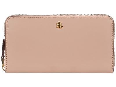 LAUREN Ralph Lauren Zip Continental Wallet (Mellow Pink/Porcini) Wallet Handbags
