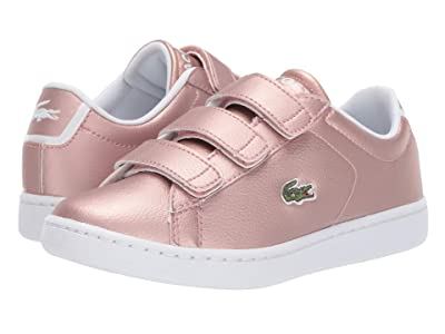 Lacoste Kids Carnaby Evo Strap 319 2 (Little Kid/Big Kid) (Pink/White) Kid