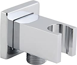 Kelica 558625 Solid Brass Wall Mount Handheld Shower Bracket Holder with Water Outlet, 1/2