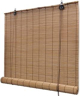 vidaXL Persiana/Estor Enrollable marrón de bambú 80 x 160 cm