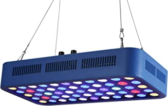 TOPLANET Led Aquarium Light 165W WiFi/Dimmable Reef Light Full Specturm Timer Control White/Blue Light Channel for Indoor Saltwater Fresh Water Coral Decoration 55-75 Gallon Fish Tank Plant Growth
