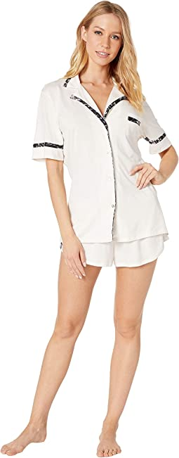 Amore Short Sleeve Top Boxer PJ Set