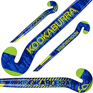 Kookaburra Goal Keepers Goalie Field Hockey Stick Deflect Popular G-Bow Design 10% Carbon 90% Fiber Glass Light Weight (36.5 Inches Length)