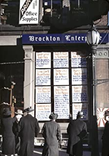 Newspaper Office 1940 Ncrowd Reading Headlines Posted In The Window Of The Brockton Enterprise Newspaper Office In Brockton Massachusetts Photograph By Jack Delano December 24 1940 Poster Print by (1