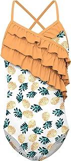 Idgreatim Girls 3D Printed Summer Sleeveless Round Neck Dress 4-12 Years