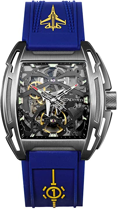 orologio militare analogico impermeabile 50m con cinturino in silicone cassa in titanio luminoso ciga design sg-z061