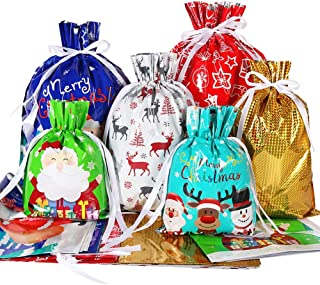 Christmas Gift Bags Sphynx Cat Gold Velvet Party Favors Grocery Wrapping Storage Bags for Kids
