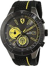 [フェラーリ] Ferrari メンズ Red Rev Evo クロノグラフ ブラック×イエロー ラバー 830342 腕時計 [並行輸入品]