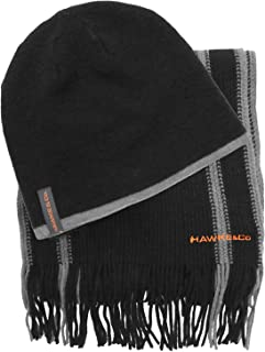 Hawke & Co Winter Beanie Hat and Scarf Set