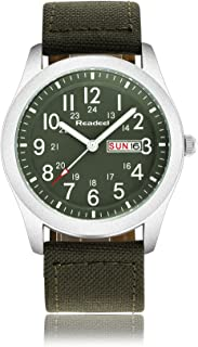 Luxury Brand Military Watches Men Quartz Analog Canvas Clock Sports Watches Army Military Watch