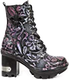 New Rock NR M.NEOTYRE07 S6 Black,Lilac - Boots, Neotyre, Women