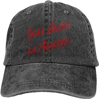 Real Hasta La Muerte Camisa Anuel Aa Trap Denim Dad Cap Baseball Hat Adjustable Sun Cap