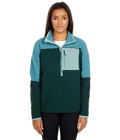 Cotopaxi Dorado 1/2 Zip Fleece Jacket (Submarine/Dark Forest) Women