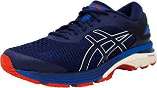 [アシックス] Men's Gel-Kayano 25 Indigo Blue/Cream Ankle-High Mesh Running Shoe - 9M