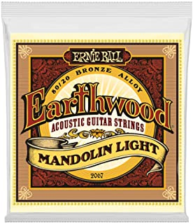 Ernie Ball Earthwood Mandolin Light 80/20 Bronze Loop End Set, .009 – .034