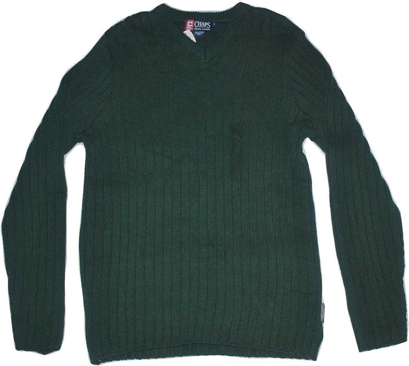 Max 78% OFF Chaps Ralph Lauren Men's V-Neck Small Fresno Mall Sweater Hunter Green