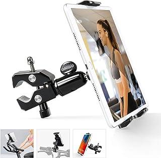 Elitehood Bike Phone Tablet Mount Holder, Portable Metal 4-11.9'' iPhone iPad Mount Holder, 360° Rotatable Tablet Mount fo...