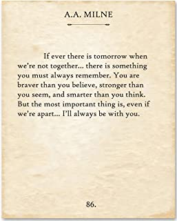 A.A. Milne - If There Ever Is Tomorrow. - 11x14 Unframed Typography Book Page Print - Makes a Great Gift Under $15 for Book Lovers