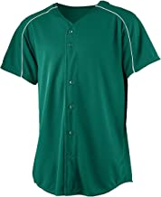 Augusta Sportswear Style 583 Youth Wicking Button Front Baseball Jersey